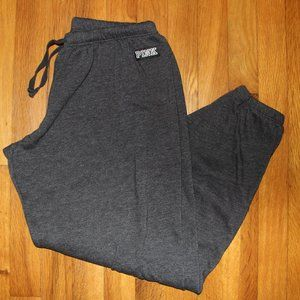 PINK Victoria's Secret Sweat Pants Women's M Gray